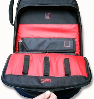 Gator Pro Go REview shot of storage compartment on front of case