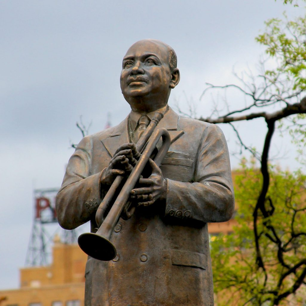 Statue to commemorate WC Handy and his part in bringing blues music to the masses