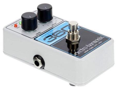Angled side view of the electro Harmonix Nano 360 looper pedal